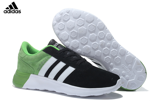 cheap for discount 702cb b2fae Men s Women s Unisex Adidas NEO Lite Racer Shoes Black White Green,Adidas