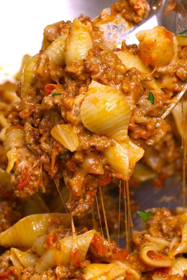 Photo of One-Pot Cheesy Taco Pasta
