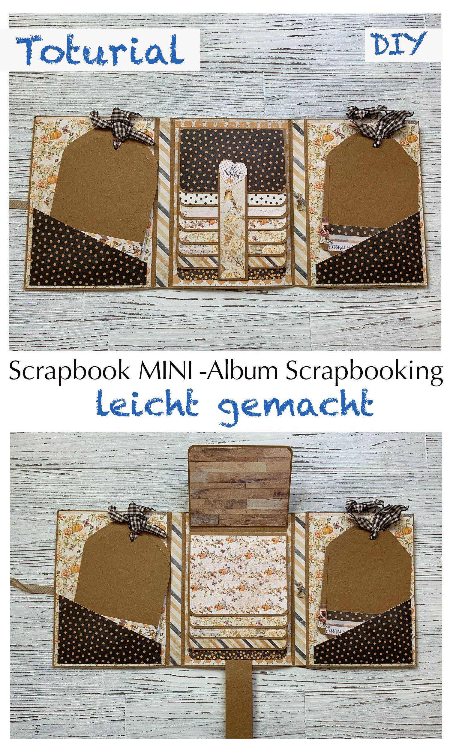 Tutorial: Trifolder Mini Album Tri- fold Card Folio Paper-Craft-Set von Amber Moon Scrapbook