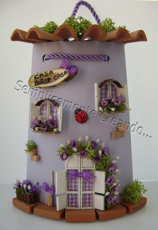 Tegole decorate decoupage tegole tegole e decorazioni for Fai da te in casa decorazioni