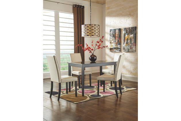 Kimonte 5 Piece Dining Room With Images Rectangular Dining