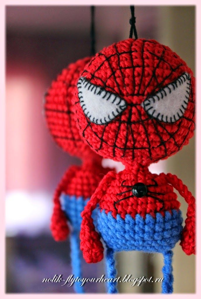 Fly to Your Heart Spiderman crochet pattern. In another language ...