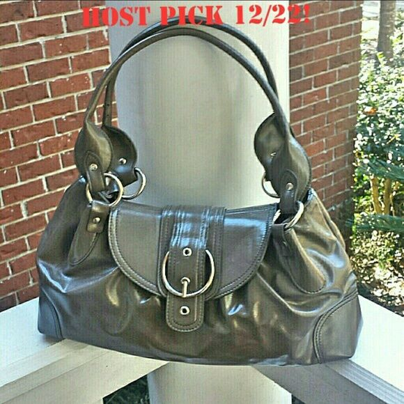 Host PickTaupe Gray Handbag Brand new handbag This bag was given to me as a gift and never left my closet. It has a beautiful acetate lining inside. This neutral color goes with most anything FREE SHIPPING ON ORDERS 35 AND UP Boutique Bags