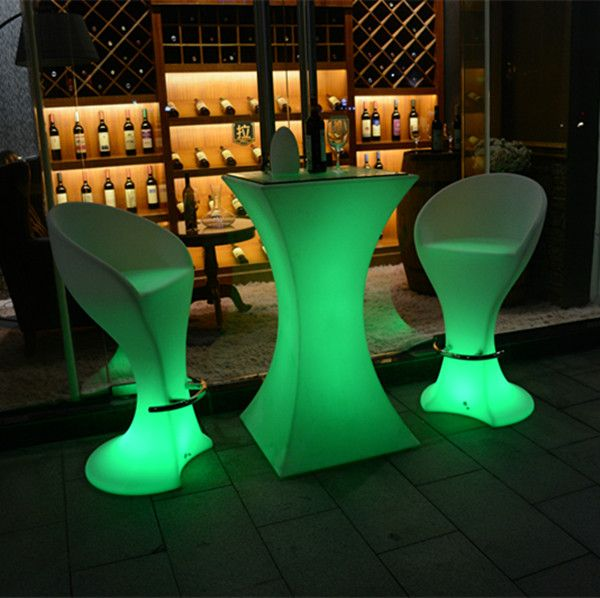 hookah lounge furniture modern round led light chair glow bar chair led chairs and tables for