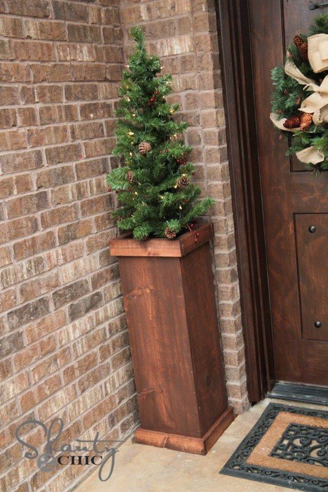 DIY 25 Christmas Tree Plant Stand Christmas tree stand