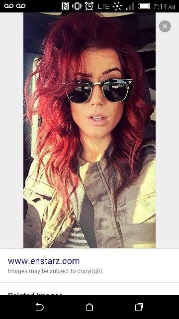 Chelsea Houska Red 6rr Redken Color Fusion Hair
