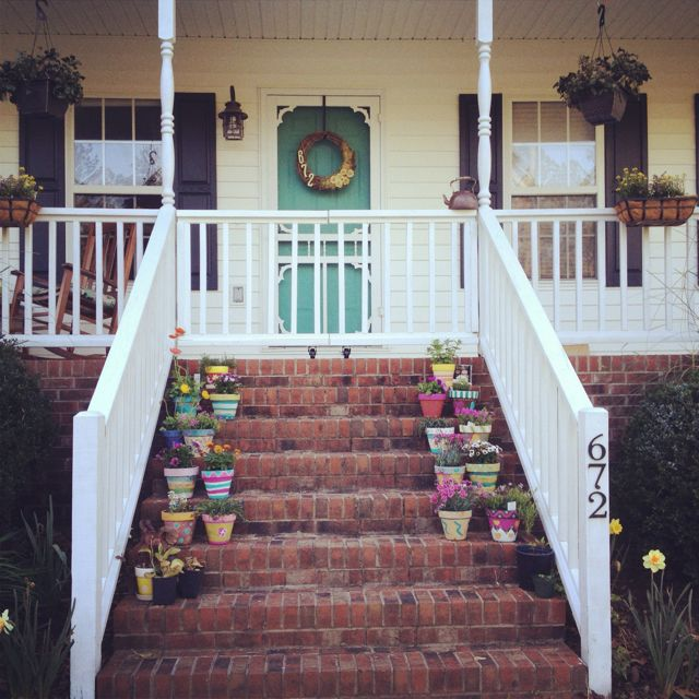 Neat Idea For A Porch Gate Love How It Matches The Rest Of The