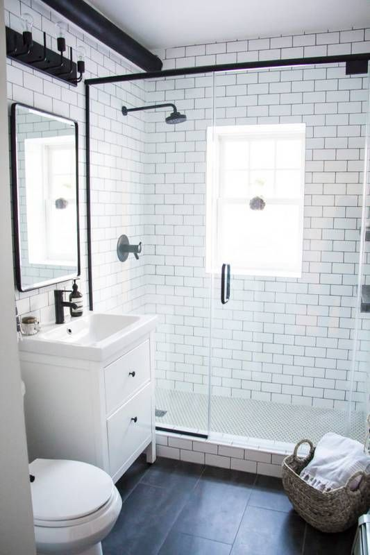 14 Small Bathroom Makeovers That Make The Most Of Every Inch Small Bathroom Small Master Bathroom Small Bathroom Makeover