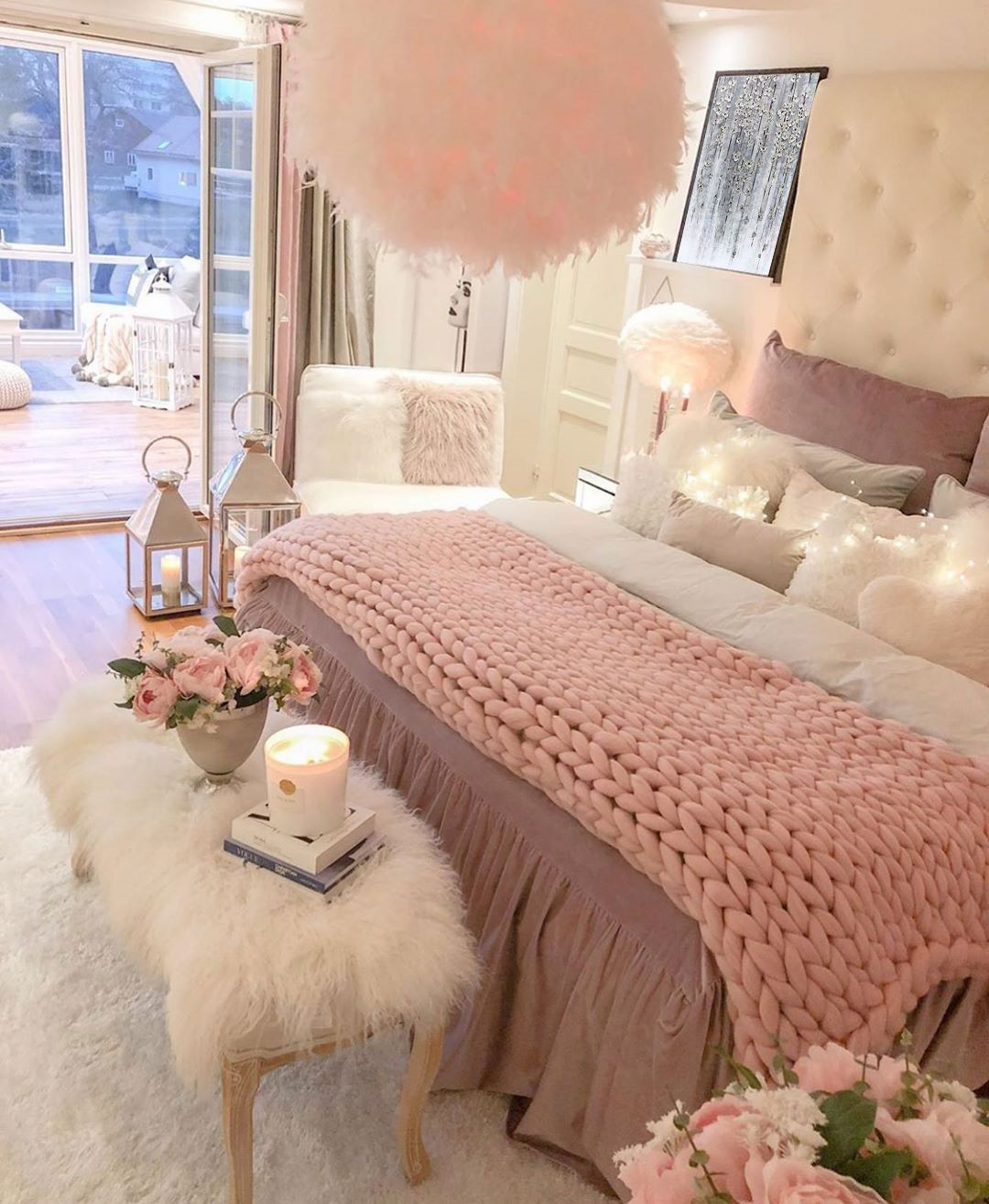 Photo of Lovely bedroom 😍🌸 Double tap if you love this! 💕