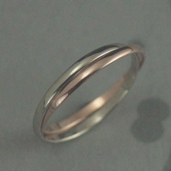 Size 4,5,6,7,8,9,10,11 Sterling Silver 3-Band Russian Wedding Ring
