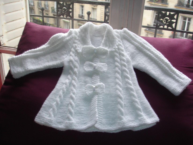 mod le tricot gilet bapteme tricot bebes filles pinterest mod le tricot mod le et tricot. Black Bedroom Furniture Sets. Home Design Ideas
