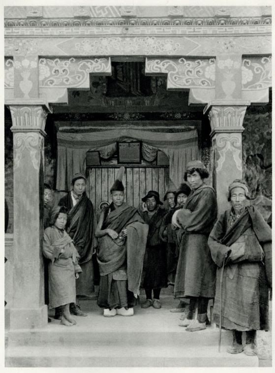 Lamas at Ghum Monestary Near Darjeeling, Bengal, India, 1928