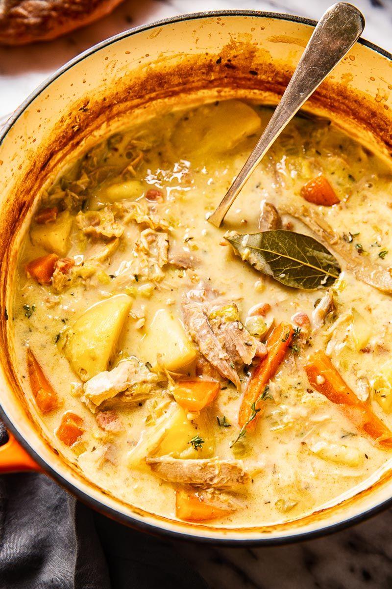 Hearty Turkey Stew (Use UP Your Leftover Turkey) - Vikalinka