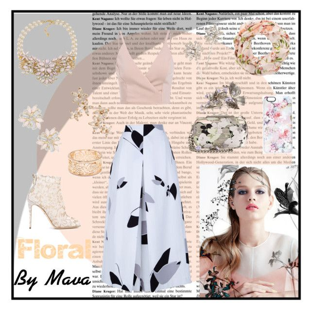 """""""Floral"""" by mava-t ❤ liked on Polyvore featuring TIBI, Alexander McQueen, Casetify, Jennifer Behr, Carolee, Bonheur, Cara, Dolce&Gabbana, Forever 21 and stylebymava"""