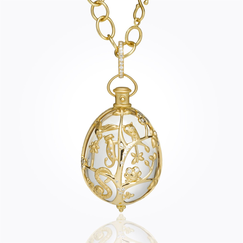 18k anima earth rock crystal pendant with diamond joyous jewels 18k anima earth rock crystal pendant with diamond aloadofball Images