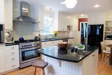 Our New Kitchen Black Uba Tuba Granite Counters White Cabinets