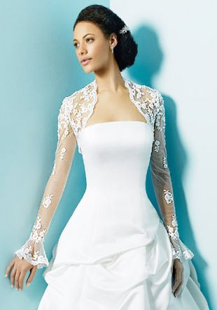 Lace Bolero Long Sleeve Wedding Dress Jacket (CBJ017 ...