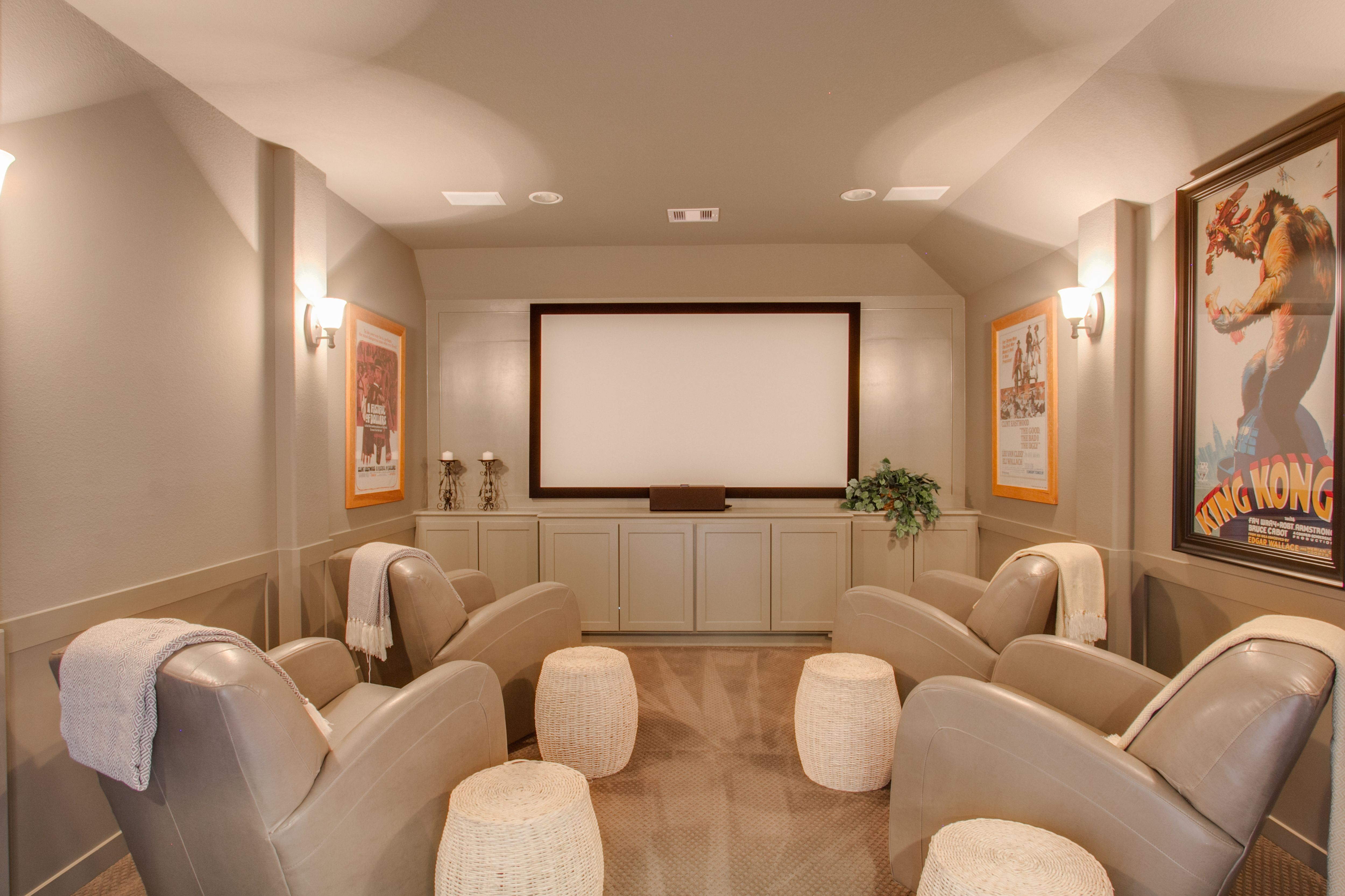 Bring the theater HOME like this amazing media room in Long Meadow Farms!  Houston: http://www.coventryhomes.com/houston/longmeadowsfarms-70ft-homesites