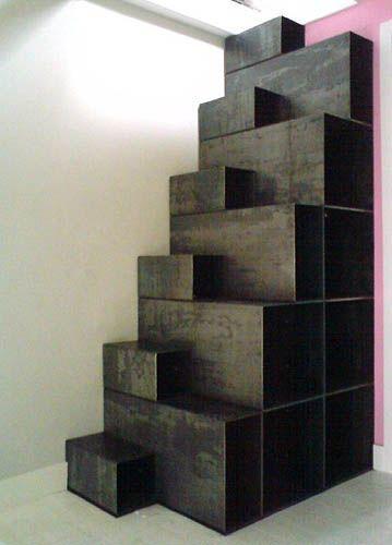 escalier japonais pas d cal s interni pinterest mezzanine staircases and stairways. Black Bedroom Furniture Sets. Home Design Ideas