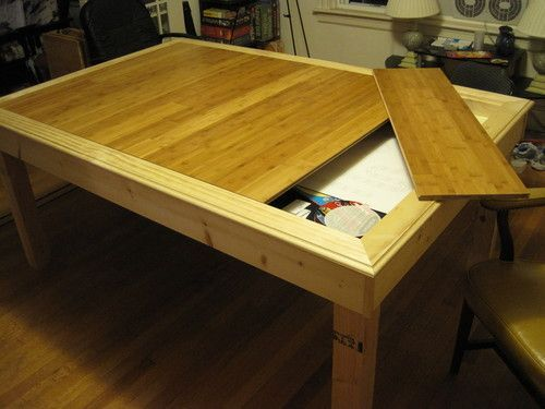 I Built A Gaming Table BoardGameGeek Basement Pinterest Interesting Wooden Gaming Table