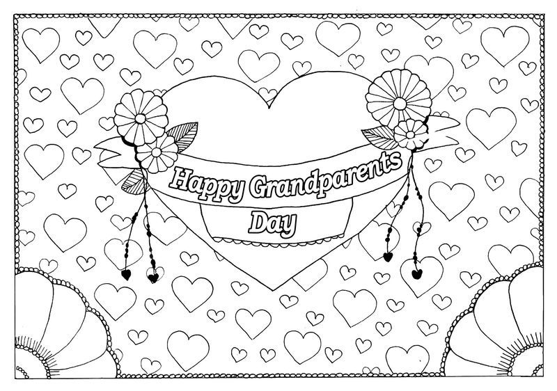 Love My Grandparents Day Coloring Pages See The Category To Find