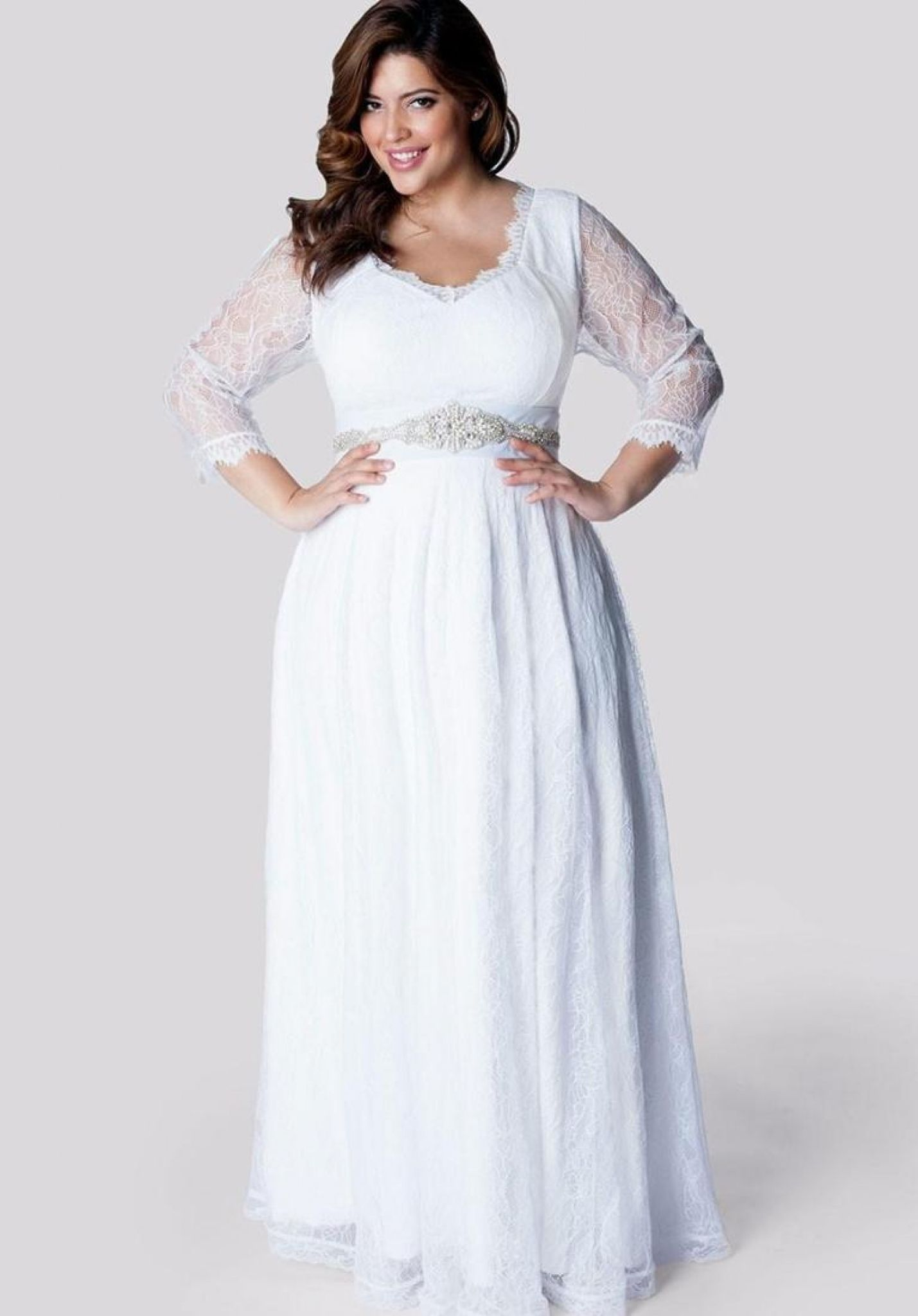 modest plus size wedding dresses - wedding dresses for the mature b ...