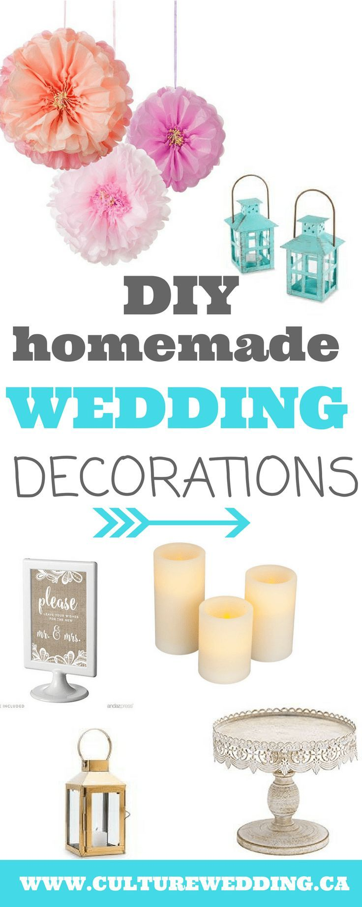 diy homemade wedding decorations for couples on a budget