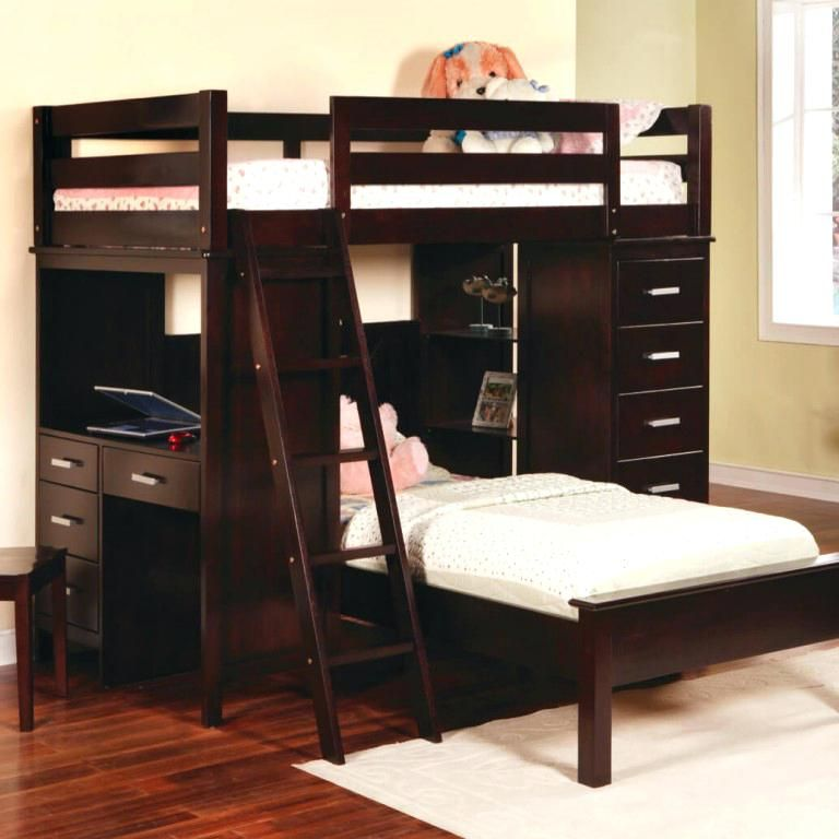 Queen Bunk Bed With Desk Full Size Of Twin Over Queen Bunk Bed L