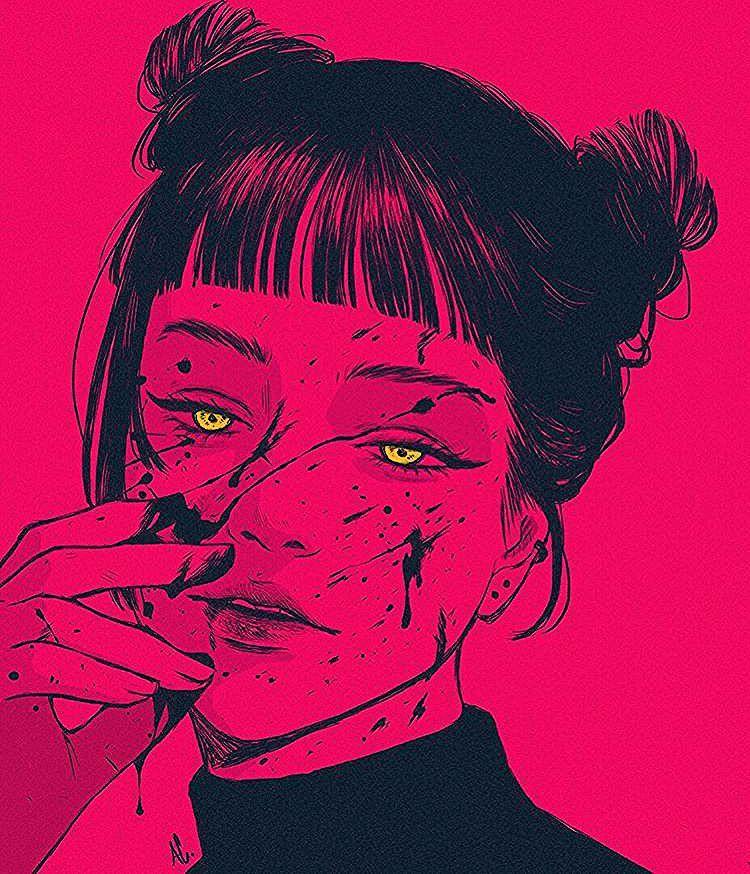 Art Sketches Girl Character Design In 2020 Vaporwave Art Aesthetic Art Art