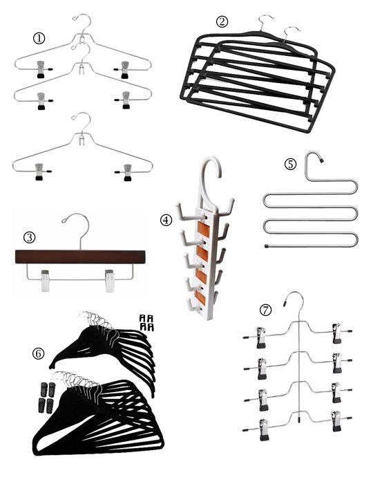 Space saving clothes hangers closets dressing rooms - Space saving closet ideas ...