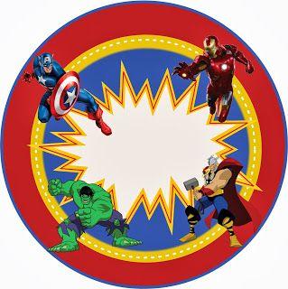 Kit Personalizados Os Vingadores Simbolo Dos Vingadores Festas