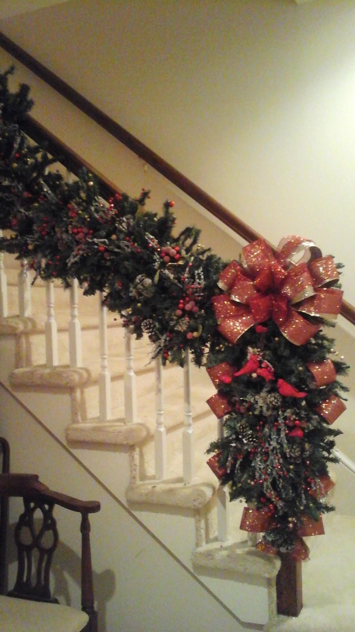 Christmas Garland Swag Post Wreath Lighted 6ft Luxury Staircase Garland Shipping Included Rustic Ice Branc Christmas Swags Christmas Garland Hallmark Decor