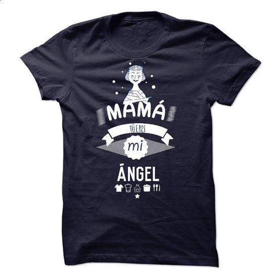 MAM! T eres mi ansgel. Limited edition for guys - #lace shirt #long tshirt. ORDER NOW => https://www.sunfrog.com/Holidays/MAM-T-eres-mi-ansgel-Limited-edition-for-guys.html?68278