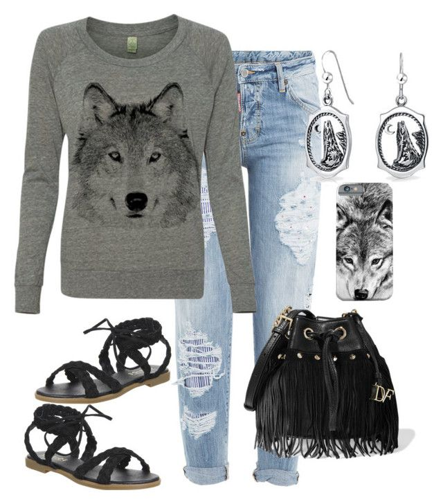 """""""Wolf"""" by naviaux ❤ liked on Polyvore featuring Dsquared2, Office, Diane Von Furstenberg and Bling Jewelry"""