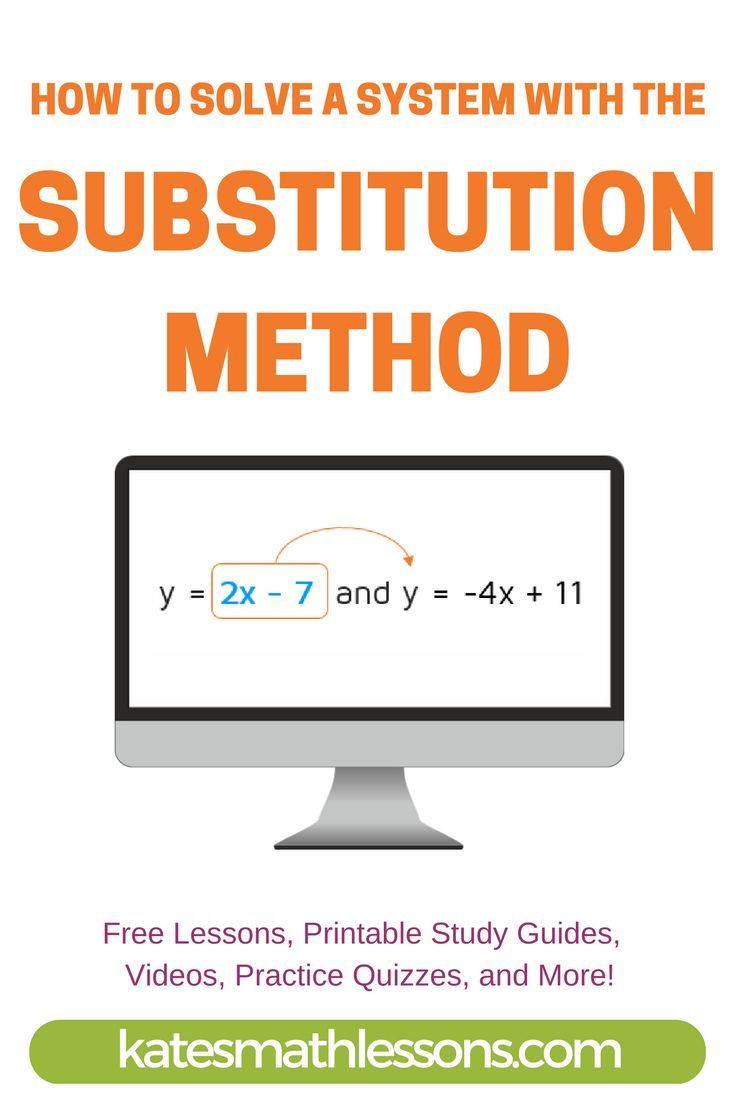 Solve a system of equations using substitution | Algebra, Equation ...
