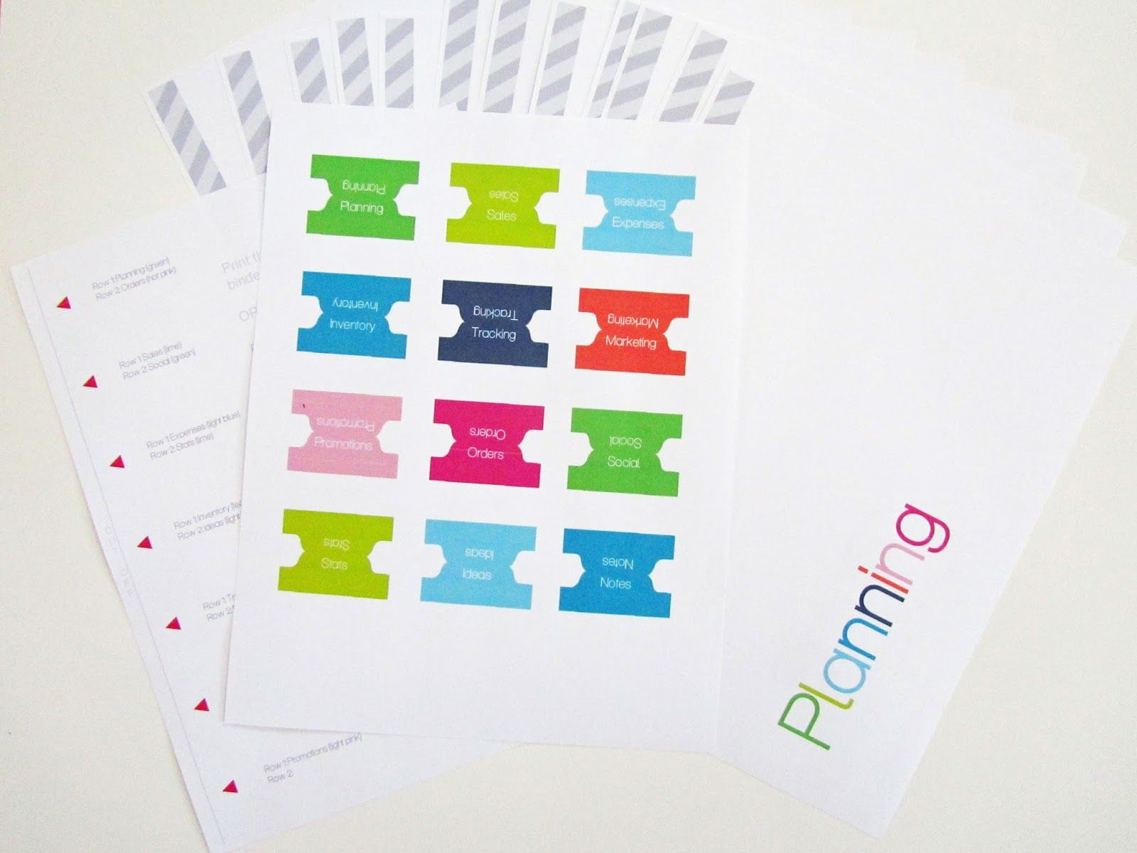 Free Printable: Divider Tabs Pages for Your Business Planner and ...