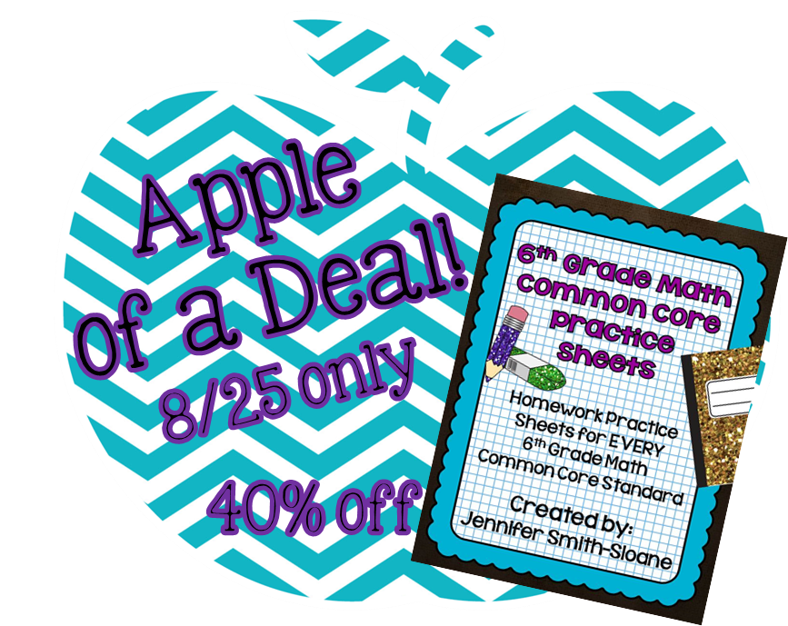 6th Grade Common Core Math Homework Sheets- Daily Deal today on ...