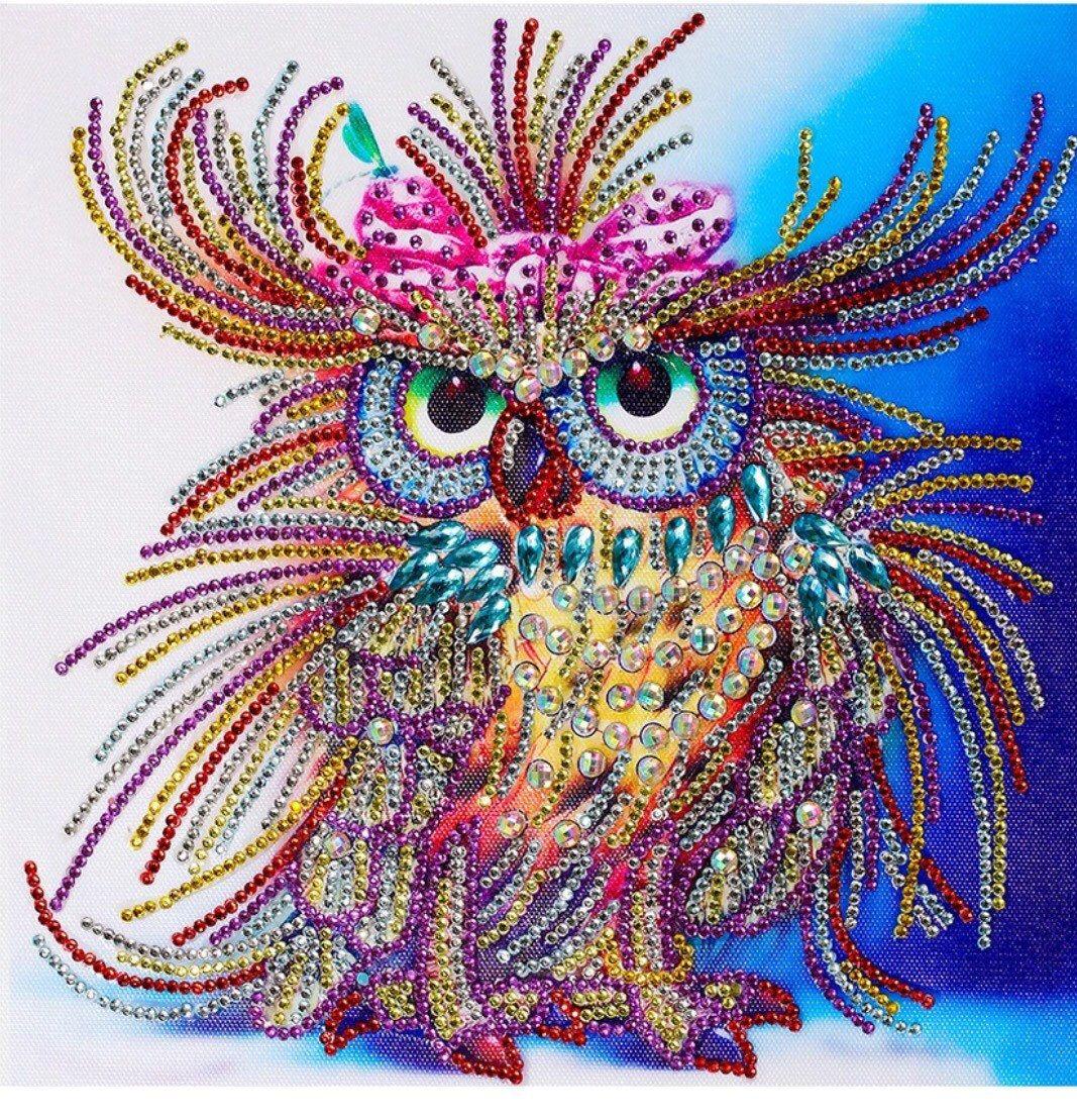Hummingbird Diamond Painting Kits Cross Stitch Crystal Rhinestone Embroidery Art Craft 5D Diamond Painting by Number Kits Bird, 30x30cm