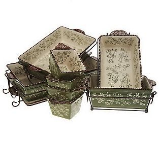 Temp Tations Floral Lace 16 Piece Oven To Table Set