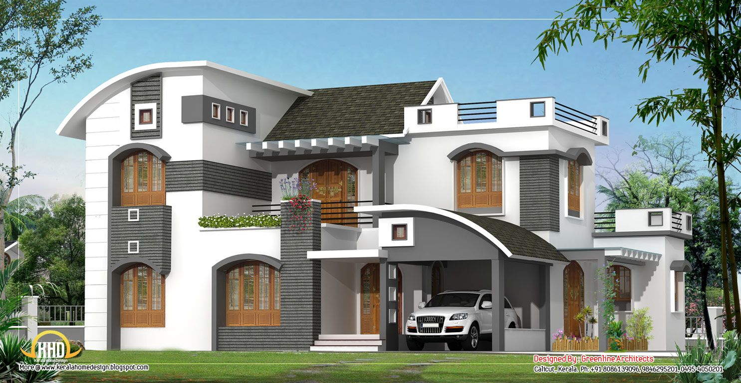 February kerala home design floor plans modern house plans for Beach house elevation designs
