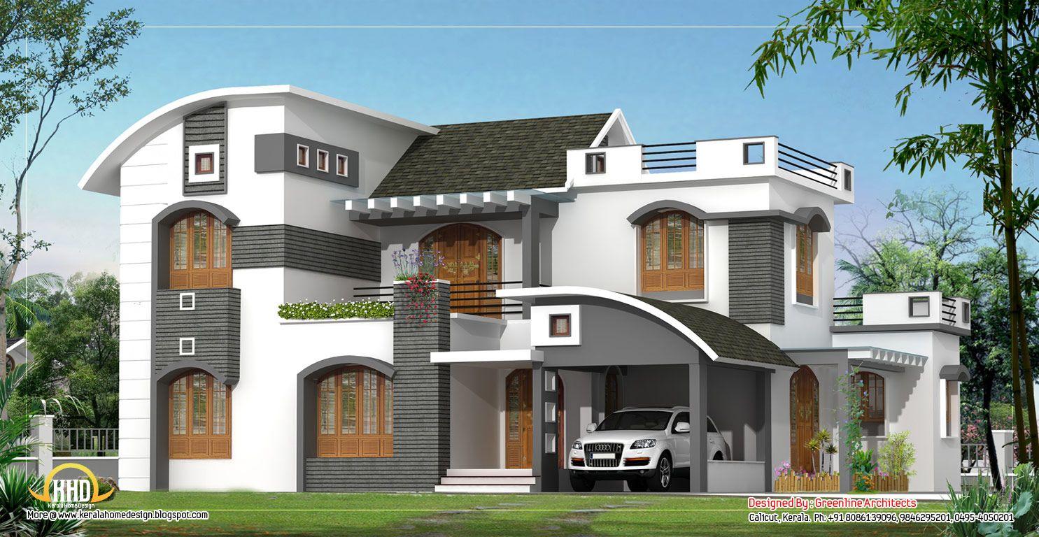 February kerala home design floor plans modern house plans for Duplex house models kerala