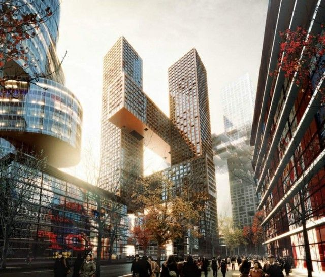 Cross Towers in Seoul by BIG