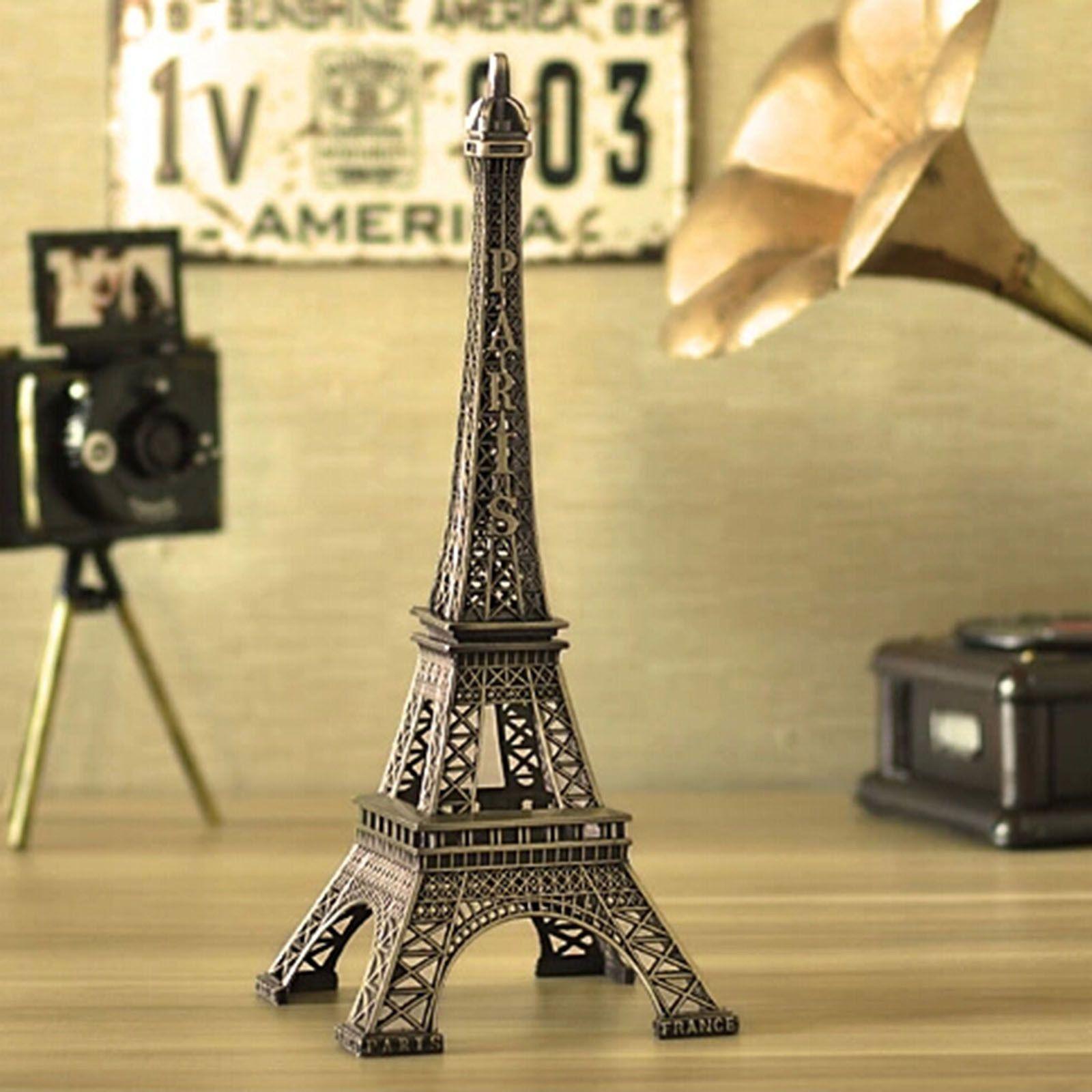 3.99 GBP - 22Cm Bronze Statue Vintage Paris Eiffel Tower Figurine ...