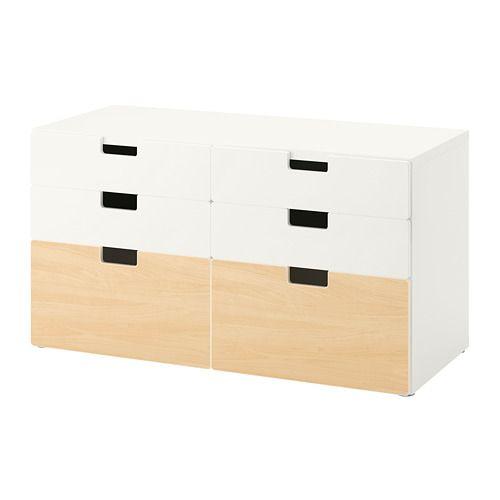 Stuva 6 Drawer Dresser White Birch Ikea