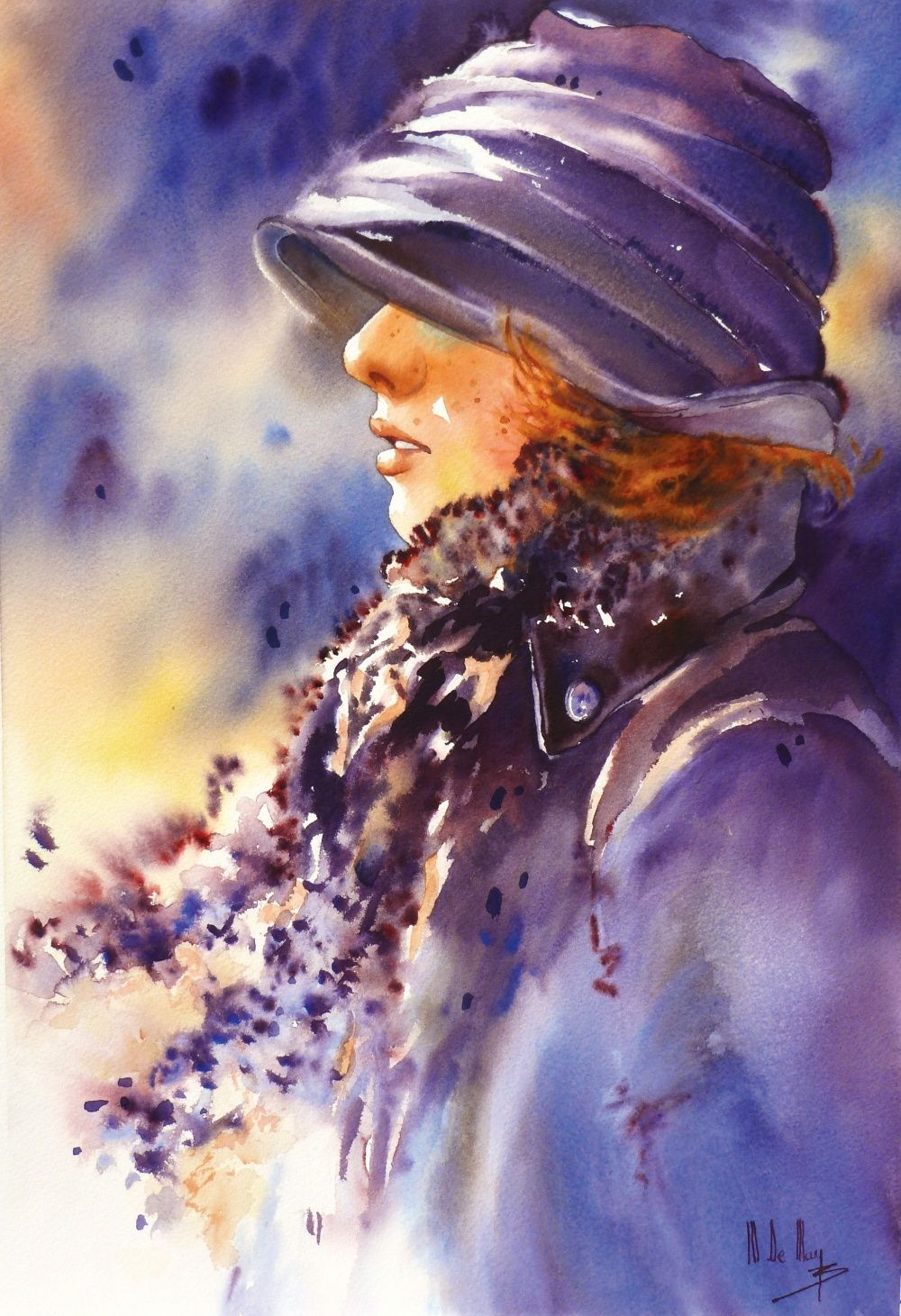 Galerie D Aquarelles Maryse De May Portraits Aquarelle