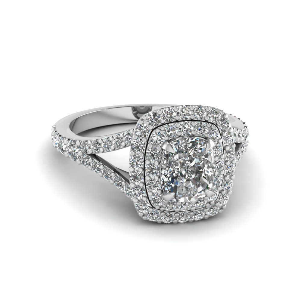 Ring · Awesome New Cushion Cut Halo Engagement ...