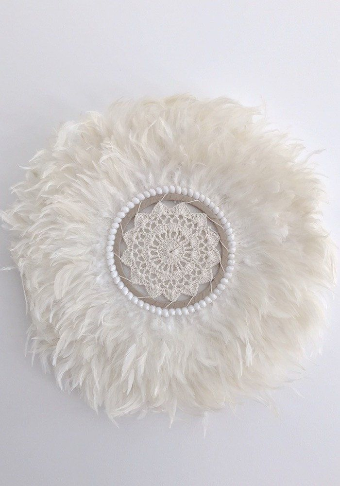 Feather Wall Art round white feather and shell wall art | madis guitar | pinterest