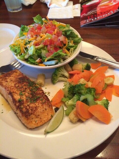 The healthy option- Salmon and Veggies