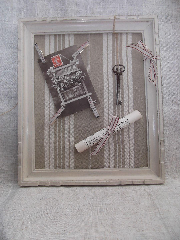 cadre patin vintage avec carte postale centenaire et sa cl du bonheur d corations murales. Black Bedroom Furniture Sets. Home Design Ideas