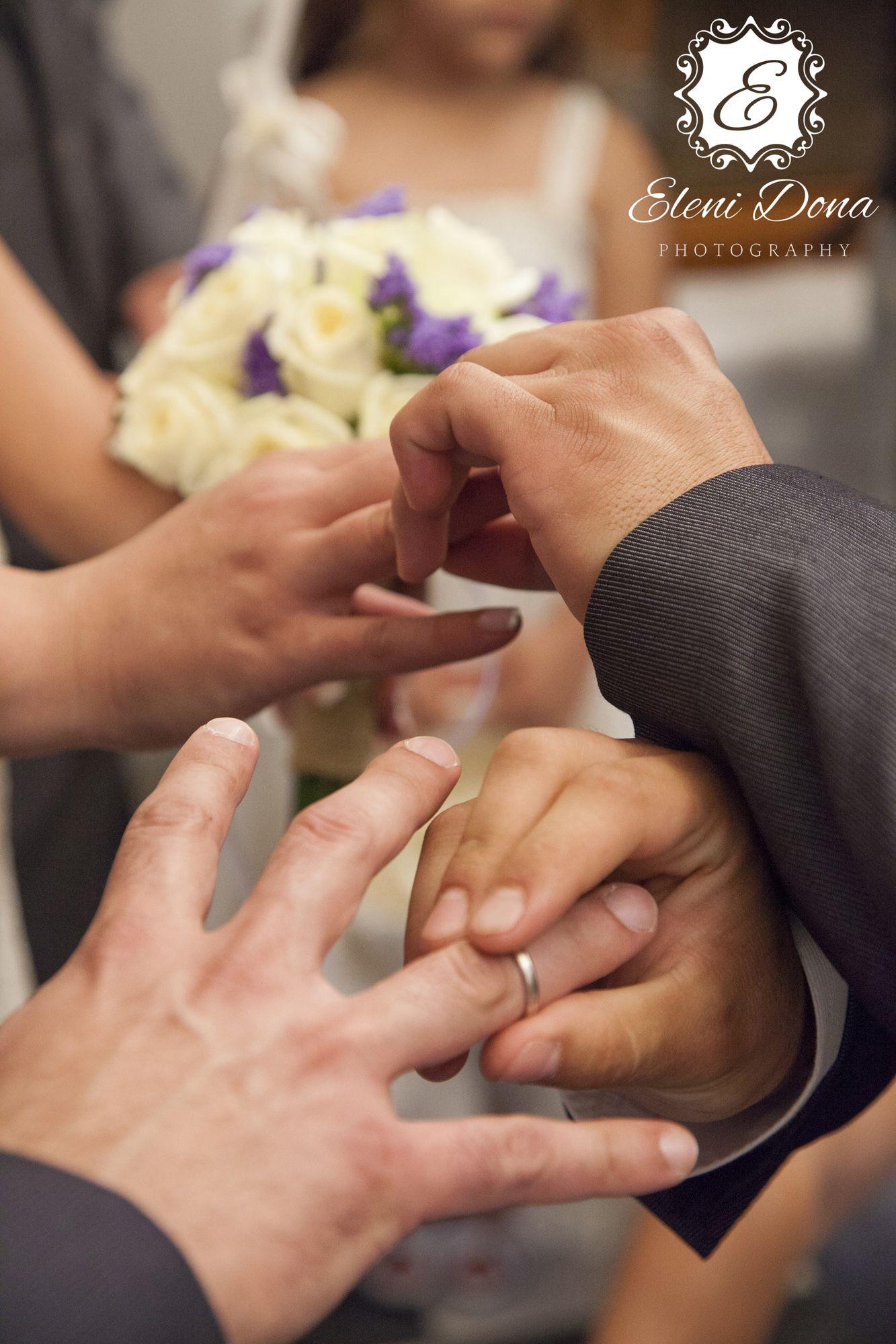 Wedding ceremony Orthodox wedding in Athens GreeceRing exchange